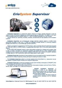 CrioSystem Supervisior pre eng Edition0617 cover